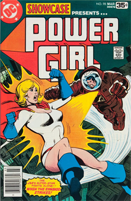 Showcase #98: Power Girl appearance. Click for values