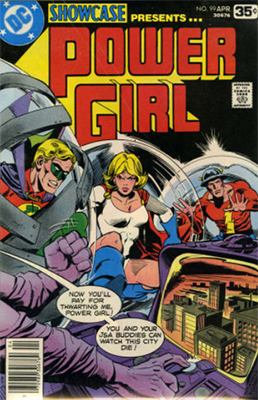 Showcase #99: Power Girl appearance. Click for values