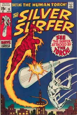 Silver Surfer #15 volume one. Click for value