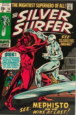 Silver Surfer #16 volume one. Click for values