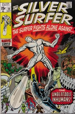 Silver Surfer #18, September, 1970. Click for value