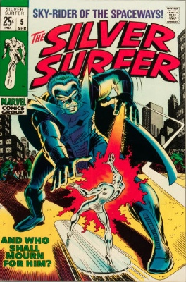 Silver Surfer #5 from the 1960s series. Click for value