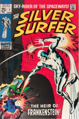 Silver Surfer #7 from the 1960s series. Click for value