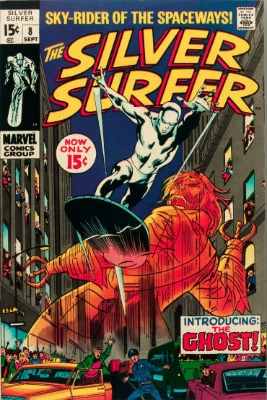 Silver Surfer #8 from the 1960s series. Click for value