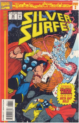 Silver Surfer #86 (1991); Blood and Thunder part 2; continued from Thor #468. Click for values.