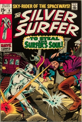 Silver Surfer #9 from the 1960s series. Click for value