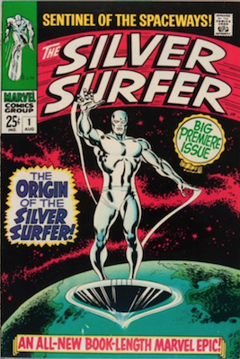 Silver Surfer Comic #1, August, 1968. Click for values