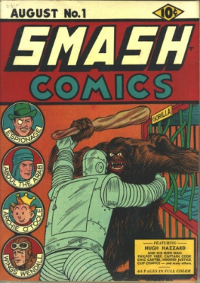 Smash Comics #1: Origin and First Appearance, Bozo the Iron Man