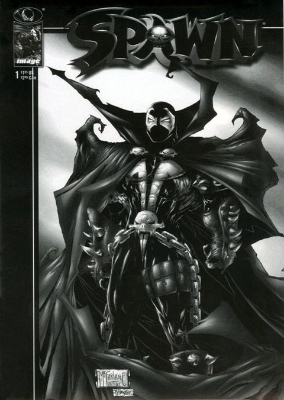 Spawn #1: Black and White Edition (1997). Click for value