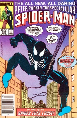 Origin and First Appearance, Sin Eater, Peter Parker, the Spectacular Spider-Man #107, October, 1985. Click for value