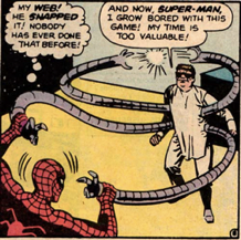 ASM #3 features one of the most notable errors in comic book history – Doctor Octopus refers to Spider-Man as Super-Man. Oops!