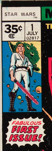 Close up of price box on Star Wars #1 1977 35c Variant Edition