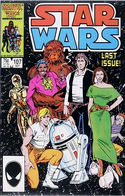 Star Wars #107 (1986): Last Issue, Scarce in High Grade. Click for value