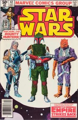 Star Wars #42, 1st Boba Fett in Comics. Click for values