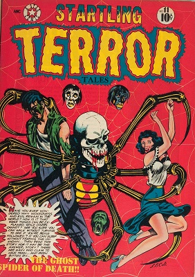 Startling Terror Tales #11 (1952): Classic L. B. Cole cover art. Click for value
