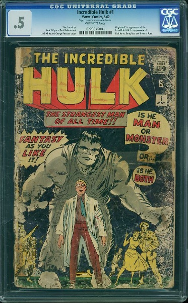 The Entry Pricepoint for a CGC-graded Hulk #1 in this kind of shape is now well into four figures! Click to find one