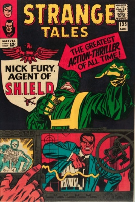 Origin and First Appearance, HYDRA, Strange Tales #135, Marvel Comics, 1965. Also the first appearance of Nick Fury, Agent of SHIELD. Click for value
