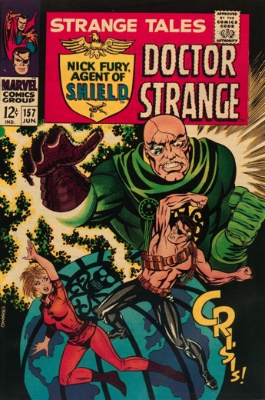 Strange Tales #157, June 1967: The End of the Ancient One; Jim Steranko Art. Click for value