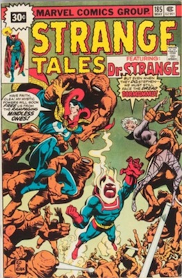 Strange Tales #185 Marvel 30c Price Variant May, 1976. Starburst Flash