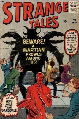 There were two prototype-style stories featuring ant-like creatures, both in Strange Tales. This is #78. Click for values