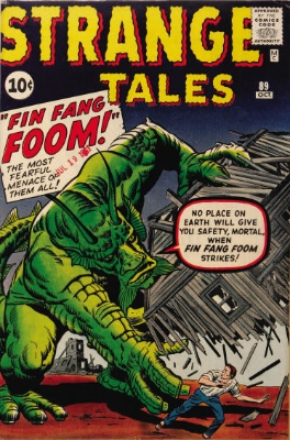 Origin and First Appearance, Fin Fang Foom, Strange Tales #89, Marvel Comics, 1961. Click for value