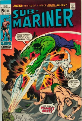 Sub-Mariner #34, 1st Defenders Tryout. Click for values