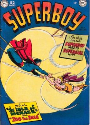 SuperGirl Comics: Superboy comic #5 SuperGirl