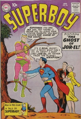 Tryout in Superboy #78 (January 1960): Claire Kent, Alias Super-Sister. Click for values
