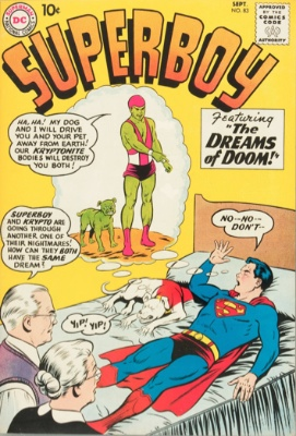 Origin and First Appearance, Kryptonite Man, Superboy #83, DC Comics, 1960. Click for value