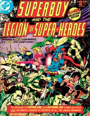 Saturn Girl and Lightning Lad finally marry in All-New Collector's Edition Volume 1 #C-55. Click for value