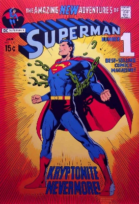 Superman #233: Classic Neal Adams cover, 'relaunch' issue. Click for values