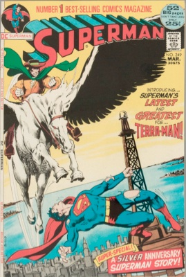 Origin and First Appearance, Terra-Man, Superman #249, DC Comics, 1972. Click for value