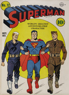 Superman comic #12. Click for values