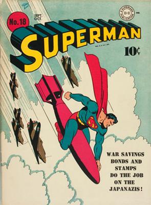 a classic 'bomb rodeo' cover Superman #18. Click for values