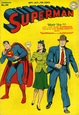 Origin and First Appearance, Mr. Mxyzptlk, Superman #30, DC Comics, 1944. Click for values