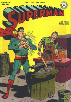 Superman #48: First Superman traveling through time. Click for values