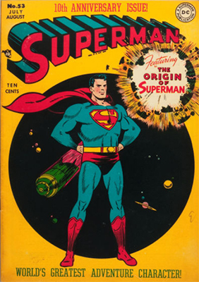 Superman Comics #53: Origin of Superman Retold. Click for values