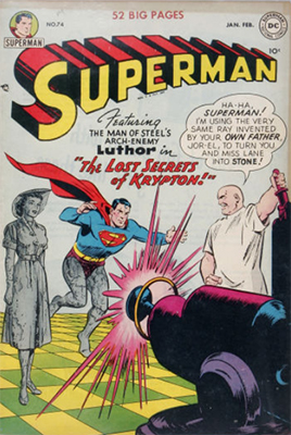 Superman #74: Lex Luthor cover. Click for values
