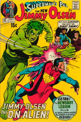 Jimmy Olsen #136: Third cameo appearance. Click for values