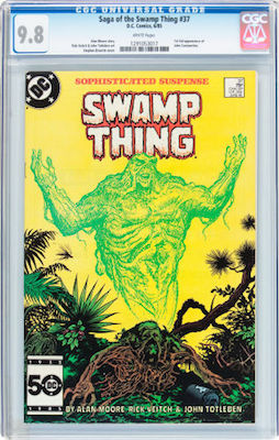 Swamp Thing #37 (1st John Constantine) is not a rare book. You should only buy it in CGC 9.8 with white pages. Click to buy a copy