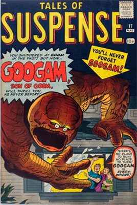 Origin and First Appearance, Googam, Son of Goom Tales of Suspense #17, Marvel Comics, 1961. Click here to see the current market value!
