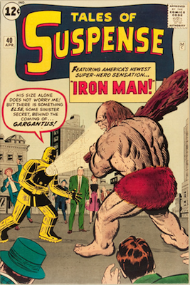 Key Issue Comics: Tales of Suspense 40, Second Appearance, First Appearance of Gold Armor Iron Man. Click for values