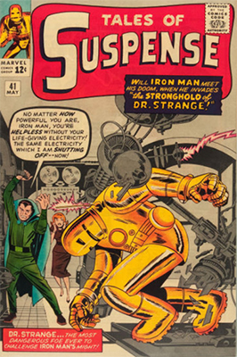 Tales of Suspense #41: Third Iron Man comic book. Click for values