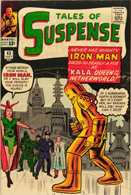 Tales of Suspense #43: 1st Kala, Queen of the Netherworld. Click for values