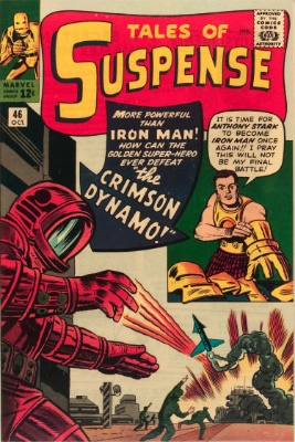 Tales of Suspense #46 (October 1963): First Appearance of the Crimson Dynamo. Click for values