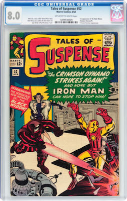 Underrated and under-valued, Tales of Suspense #52 is still a pricy book. A nicely presenting and sharp CGC 8.0 is a good investment if you cannot afford a higher grade. Click to find yours!