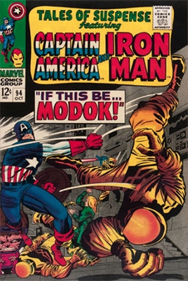 #9: M.O.D.O.K., Tales of Suspense #94, CGC 9.4, $400-$500. Click for values