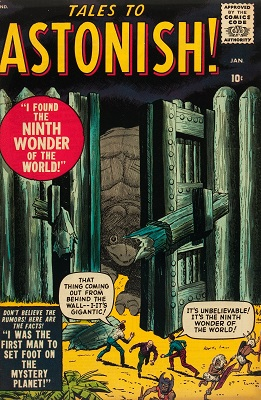 Tales to Astonish #1 (1959): Classic Marvel horror, 1st in series. Click for value