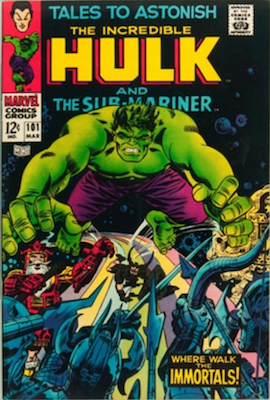 Tales to Astonish #101: Last in Series; Hulk story continues in Incredible Hulk #102, Sub-Mariner story continues in Iron Man and Sub-Mariner #1. Click for value