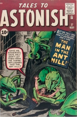 Key Issue: Tales to Astonish #27, origin and first appearance of Ant-Man. Click for values